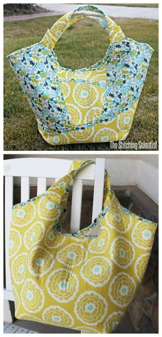 Here's another FREE pdf pattern, this time it makes a cute summer beach bag - The Carnaby Carry All bag. This is a great big bag that can hold your large beach towel, sunscreen, your phone and everything else you want to take to the beach this summer. #freesewingpattern #freebagpattern #totebagpattern #freetotebagpattern