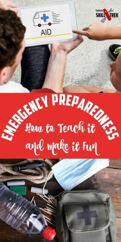 We never thought it would happen but the realities of emergency preparedness hit our home. It's a serious topic, but here are ways to make preparedness fun. Teaching Life Skills, Teaching Kids, Kids Learning, Emergency Evacuation Plan, Emergency Preparedness, Emergency Kits, Emergency Preparation, Emergency Supplies, Adolescents