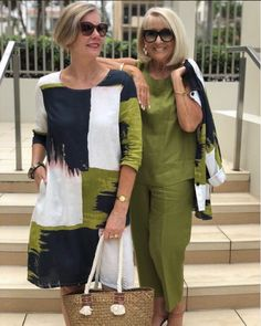 Stylish Outfits For Women Over 50, Stylish Older Women, Older Women Fashion, Over 50 Womens Fashion, 50 Fashion, Plus Size Fashion, Fashion Outfits, Clothes For Women, Traje Casual