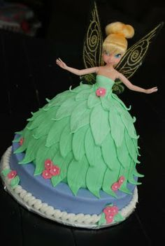 A Popular Princess {Tinkerbell Doll Cake} | A Little Something Sweet - Custom Cakes