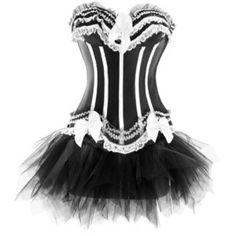 Sexy Lingerie Moulin Rouge Boned Corset Dress Showgirl Costume Tutu Skirt s Short Corset Dress, Corset Sexy, Strapless Corset, Corset Dresses, Underbust Corset, Dress Skirt, Lace Skirt, Gothic Korsett, Sexy Korsett