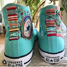 diy shoes Converse All-Star diy embroidery high tops sneaker styling Mode Converse, Converse Haute, Estilo Converse, Diy Converse, Converse Star, Custom Converse, Converse Outfits, Sneakers Mode, Custom Shoes