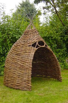 Willow Den -- I want one for my own private space to meditate, read, stretch & yoga and explore...