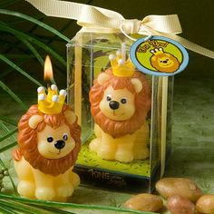 """""""King of the Jungle"""" Candle Favor by Beau-coup"""