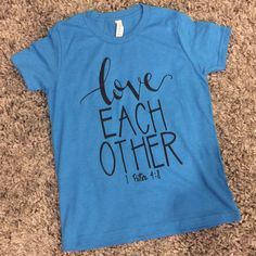 A personal favorite from my Etsy shop https://www.etsy.com/listing/492270340/childrens-blue-t-shirt-scripture
