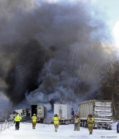 VIDEO: Semi-Truck Loaded w/ Fireworks Explodes in Vehicle Pileup in Kalamazoo, Michigan