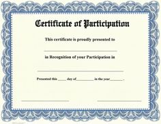 Certificate Of Participation Template Pdf Certificate Of Participation Template Pdf . Certificate Of Participation Template Pdf . 330 Best Editable Certificates Awards Images In 2020 Certificate Of Participation Template, Blank Certificate Template, Free Printable Certificates, Certificate Format, Award Template, Gift Certificates, Business Letter Template, Certificate Of Completion