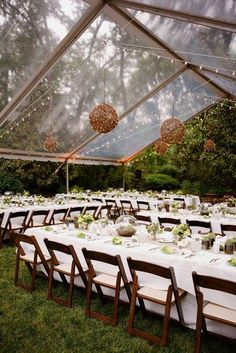 Choosing a clear tent for an outdoor wedding gives the impression of dining and . - - Choosing a clear tent for a Tent Decorations, Outdoor Wedding Decorations, Outdoor Weddings, Beach Weddings, Outdoor Tent Wedding, Garden Weddings, Vintage Weddings, Day Weddings, Tents For Weddings