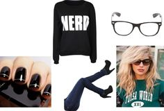 """""""NERD (kate upton hair/makeup)"""" by taytay5559 on Polyvore"""