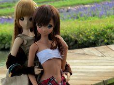 Smart Doll Mirai Suenaga and Ebony by sakashima Huang