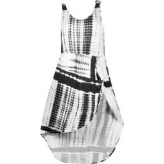 Black Knotted Tie Dye Dress (1,575 THB) ❤ liked on Polyvore featuring dresses, women plus size dresses, womens plus dresses, tie dyed dresses, plus size dresses and knot dress