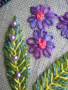 ella's craft creations- beaded embroidery detail