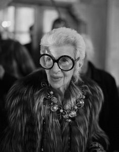 """i put on jazz records and dance by myself."" -iris apfel"