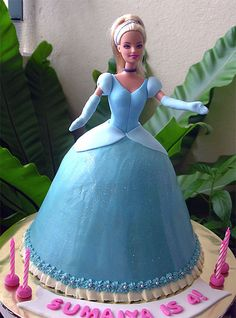 Cinderella Doll Cake by specialcakes/tracey, via Flickr