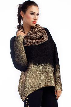 Gradient Loose Fit Sweater OASAP.com