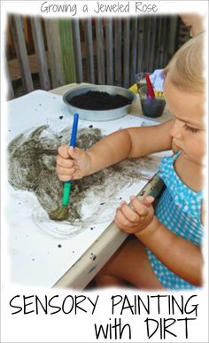 Dirt paint is so fun for kids, and so simple, too! Filled with sensory and art exploration, it is a great activity for the warmer months.