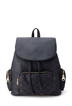 Laser Cut Faux Leather Backpack #Accessories