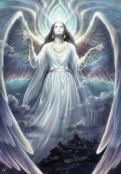 Angel Jibrail by Develv on DeviantArt Guardian Angel Pictures, Angel Images, My Guardian Angel, Angels Among Us, Angels And Demons, Fantasy Creatures, Mythical Creatures, Angel Artwork, Angel Guide