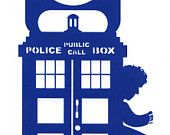 Doctor Who Tardis Weeping Angel Door Hangers by ContourDsigns