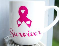 Breast Cancer Cancer Survivor Coffee cup Tea Mug by InspireGiftCo