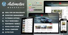 Automotive Car Dealership Business WordPress Theme Finally a gorgeous website template for car dealerships that doesn't just look beautiful, but also includes complete easy-to-use functionality. Whether your business is a small car dealer or a large fully functional car dealership, you are sure to find what you need in this automotive WordPress theme.