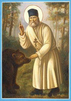 Seraphim of Sarov Church Icon, Christian Religions, Orthodox Christianity, Early Christian, Catholic Saints, Orthodox Icons, Artwork, Painting, True Faith