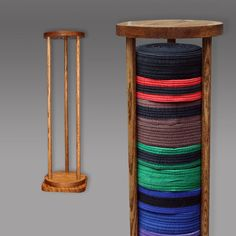 Martial Arts Belt Display Rack Tower Style by RozEmazingDesigns