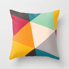 Tilting Triangles Throw Pillow