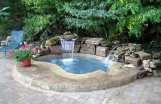Having a pool sounds awesome especially if you are working with the best backyard pool landscaping ideas there is. How you design a proper backyard with a pool matters. Hot Tub Backyard, Small Backyard Pools, Backyard Pool Designs, Small Pools, Swimming Pools Backyard, Pool Spa, Backyard Patio, Backyard Landscaping, Landscaping Ideas