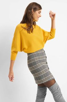 8a19b40e20 Orsay · Denevérujjú pulóver - Sárga