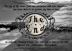 Beautiful graduation quote from Christopher McCandless // inspirational grad quotes