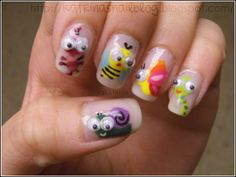 Hi dear reader!  Have I got something to show you! Below are the entries for the bugs nail art contest, the pictures are clickable so please...