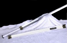 Chinese Traditional White Han Tai Chi Jian Chinese swords of this style date back to the Han dynasty 漢 CE) and was the first l. Zombie Apocalypse Weapons, Tai Chi Exercise, Ninja Sword, The Han Dynasty, Chapter One, Michelle Lewin, Fantasy Weapons, Boxing Workout, Japan