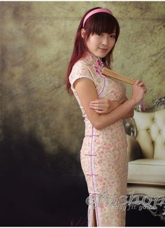 Pink Cotton Cheongsam SCO70 - Custom-made Cheongsam,Chinese clothes, Qipao, Chinese Dresses, chinese clothing,EFU Tailor Shop