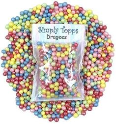 Carnival Mix Multi Coloured Pearl sugar dragees soft bite for cake and cookie decorations Pearl Sugar, Cookie Decorating, Sprinkles, Carnival, Candy, Cookies, Breakfast, Decorations, Color