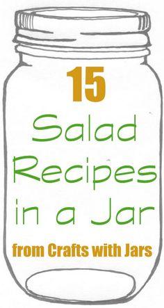 15 Salad Recipes in a Jar