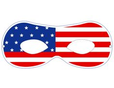 USA Party Masks – Flag 1  #Independence #Day #Party #Celebration #Decoration #Ideas