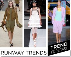 Sandra Bauknecht: Here is your ultimate S/S 2014 runway trend guide. Best Seasons, Seasons Of The Year, 2014 Fashion Trends, Runway, Summer Dresses, Inspiration, Bermudas, Lace, Cat Walk