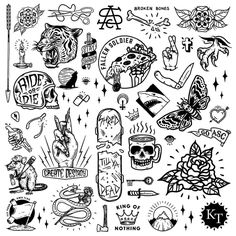 Here is a collection of the elements I used for the mural at Mermaid Beach. Such a fun project. Here is a collection of the elements I used for the mural at Mermaid Beach. Such a fun project. Flash Art Tattoos, Tattoo Flash Sheet, Body Art Tattoos, Sleeve Tattoos, Tatoos, Smal Tattoo, Kritzelei Tattoo, Doodle Tattoo, Mini Tattoos