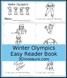 3 Dinosaurs - Winter Olympics Easy Reader: I, Can, See