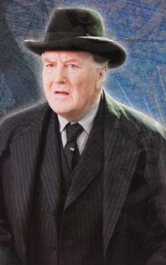 Minister of Magic Cornelius Fudge in the HARRY POTTER series (played by Robert Hardy in the films)