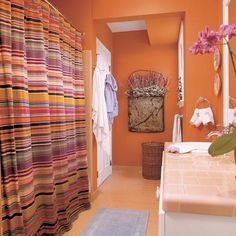 gray and, purple,  orange bathroom | some others that s why we ve gathered for you these cool bathrooms you ...