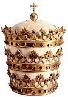 Another tiara of Pope Pius IX. This tiara is now displayed in the Basilica of the Sacred Heart, Indiana USA.
