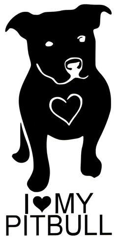 I-Love-My-Pitbull-Dog-iPad-Vinyl-Car-Window-Decal-Sticker-Love-a-bull-Pit-Bull