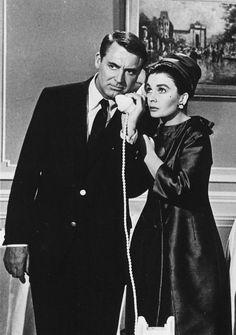 """Cary Grant y Jean Simmons en """"Página en blanco"""", 1960"""