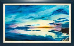 Lisa Elinor Paintress  Blue twilight  40×70  oil-canvas  Have a nice day! :-)