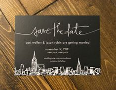 New York Save-the-Date featured on marthastewartweddings.com & Martha Stewart Weddings: Real Weddings 2012 Magazine.  Alread Designs