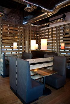 - Love the divided walls- simple. Image detail for -... Lighting Projects cool restaurant and bar lamps – Meteor Lights