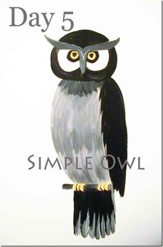 how to paint a simple owl