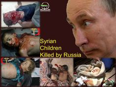 (PHOTO 18+) Syrian Children Killed By Russian-led Airstrikes Targeting Civilians.